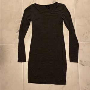 Charcoal gray H&M fitted dress